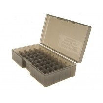 Frankford Arsenal Flip-Top Ammo Box #508 45 ACP, 40 S&W, 10mm Auto 50-Round Plastic Gray