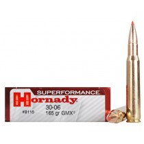Hornady 8116 Ammunition 30-06 Springfield 165gr Superformance GMX x20