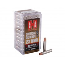 Hornady Ammunition 22 WMR 45gr FTX Critical Defense x50