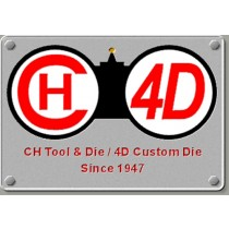 CH4D Blank Crimp Form Die 9mm Shoulder Die