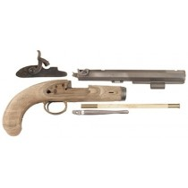 "Lyman Plains Muzzleloading Pistol Unassembled Kit 50 Caliber Percussion 9-3/4"" Blue Barrel"