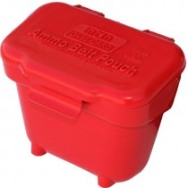 MTM Ammo Belt Pouch For 22 Lr Pellets, 17 Rf Bbs Red
