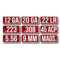 MTM Ammo Caliber Labels 12 Ga 8-Pack