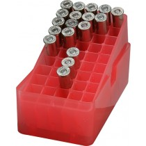 MTM E50-38-29 Slip-Top Ammo Box 50 Round Square Hole 38 - 357, Clear Red