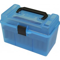 MTM H50-RL Ammo Box Clear Blue