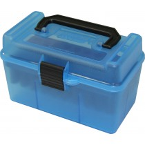 MTM H50-RM Ammo Box Clear Blue