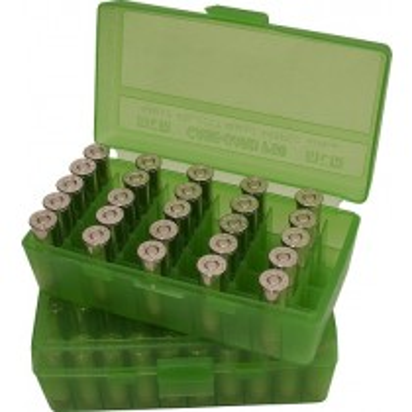 MTM P50-45 Ammo Box 10mm, 40S&W, 45ACP Clear Green