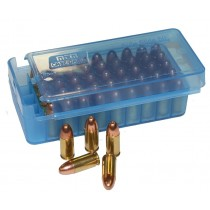 MTM P50SS Side-Slide Pistol ammo boxes 50 round 9mm 380ACP Clear Blue