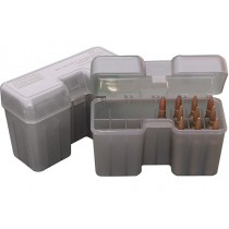 MTM Ammo Box 22 Round Flip-Top 375 Rem Um 416 Rig Clear Smoke
