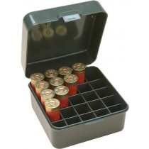 "MTM Flip-Top Shotshell Box 10/12 Gauge Up To 3.5"" 25-Round Plastic Green"