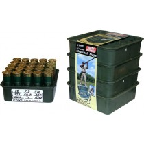 MTM Shotshell Trays 25 Round 12 Gauge Stackable Black 4-Pack