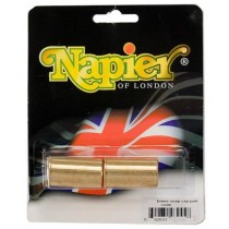 Napier Brass Snap Caps 16 Gauge - 1 Pair
