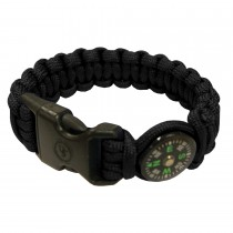 "UST Paracord Survival Bracelet Compass 8"" Black"