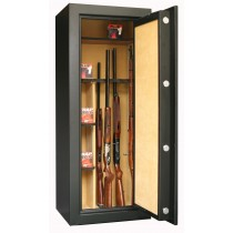 Infac PK60 Presidential 18 Scoped Rifles Safe With 2 Wooden Shelves Electronic Lock Black