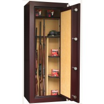 Infac PK60 Presidential 18 Scoped Rifles Safe With 2 Wooden Shelves Electronic Lock Red