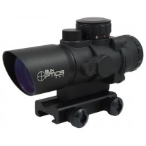 Sun Optics USA Tactical Precision 3x32 Prismatic Red Dot Sight With Illuminated Reticle