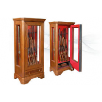 Infac ROMA Safe Vitrine 12 Scoped Rifles with Locking Compartment Wooden Cladding Walnut