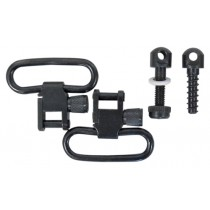 "Sun Optics USA 1-1/4"" Swivel Set with Front & Rear Stock Screws And Stud Spacer Black Satin"