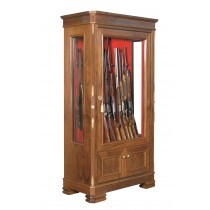 Infac TOLEDO Safe Vitrine 14 Scoped Rifles with Locking Compartment Wooden Cladding Walnut
