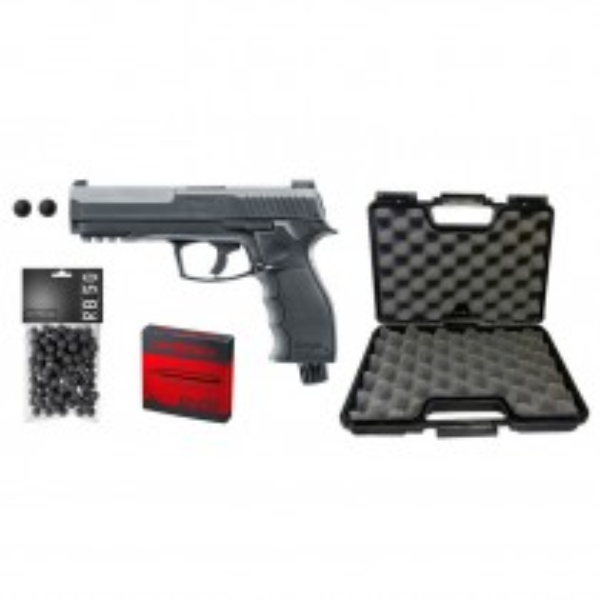Umarex Pack Ready to Shot T4E HDP Cal 50 - 11J + 100 Rubberballs + 5 CO2 Capsules + Gun Case