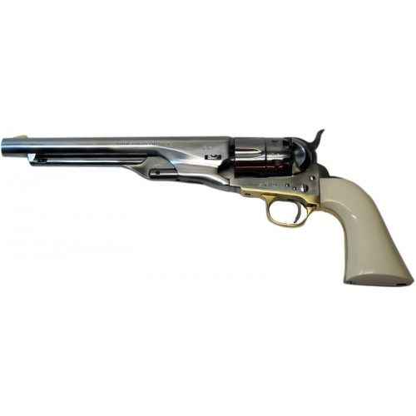 Pietta CASB44 Revolver Poudre Noire 1860 Army Old Silver Ivoirine .44