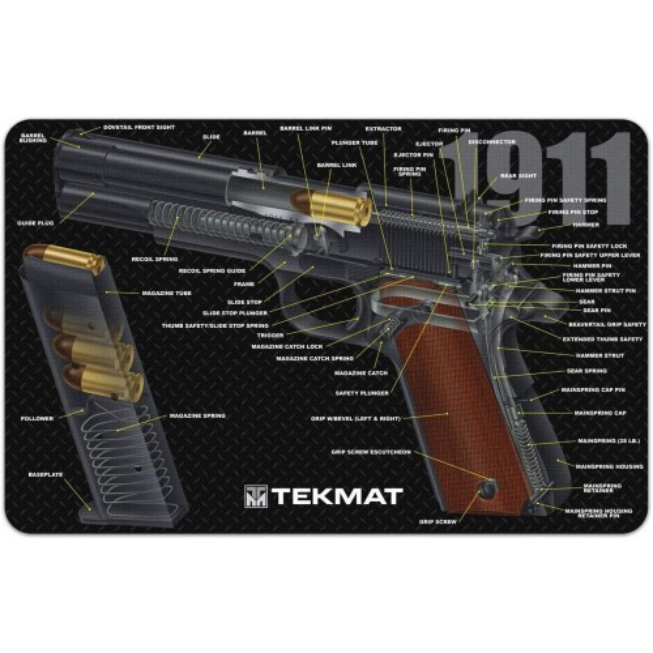 TekMat Tapis de Nettoyage 1911 3D Cutaway