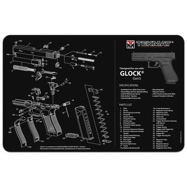 TekMat Tapis de Nettoyage Glock Gen 5