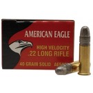Federal American Eagle Munitions 22 Long Rifle HV 40g LRN x500