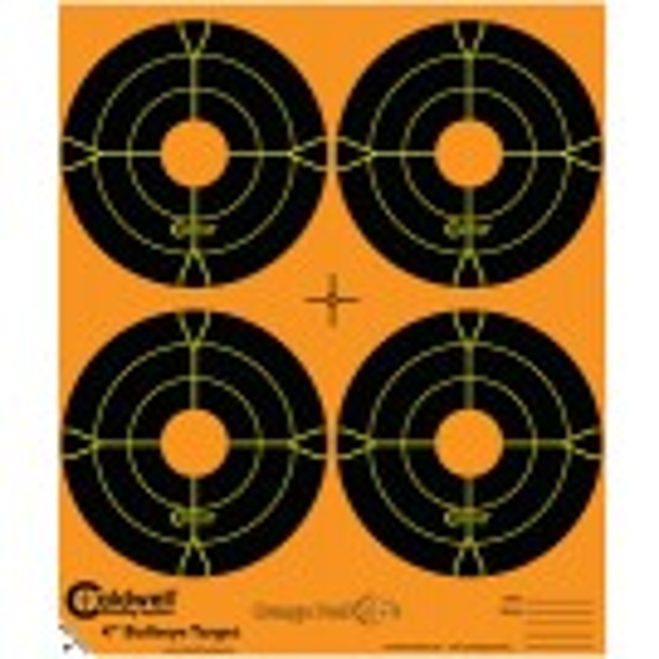Caldwell Orange Peel Cible 10cm Autocollante Bullseye x25