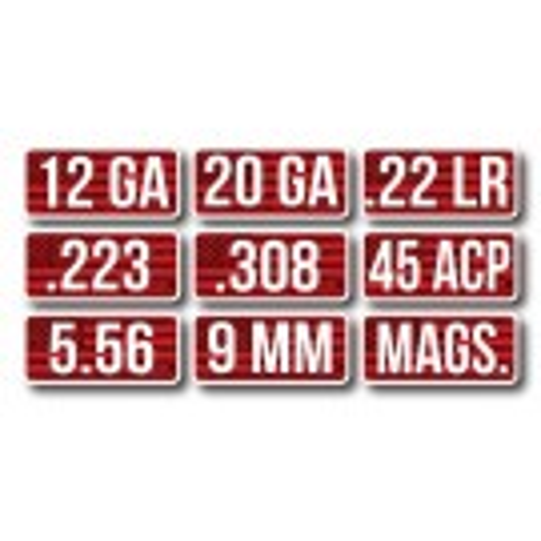 MTM Étiquettes Calibre pour Boîte de Munitions 45 ACP 8-Pack