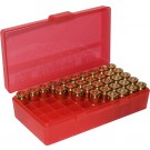 MTM P50-45 Boite à Munitions 10mm, 40S&W, 45ACP Rouge Transparent