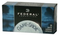 Federal 22 LR Hv 40 Gr Copper Plated Solid Game-Shok x50
