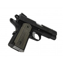 Pachmayr G10 Tactical Grips 1911 Officer Green/Black Grappler
