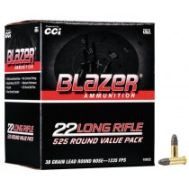 CCI Blazer Munitions 22 Long Rifle 38gr Plomb RN Carton de 5250