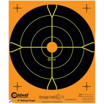 Caldwell Orange Peel Cible 20cm Autocollante Bullseye x5
