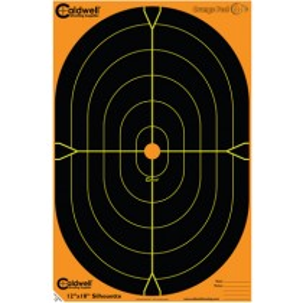 Caldwell Orange Peel Silhouette Cible 30 X 45cm Autocollante x5