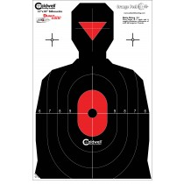 Caldwell Flake Off Silhouette Dual Zone Cible 30 X 45cm x8
