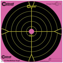 Caldwell Orange Peel Cible 30cm Autocollante Bullseye x5 Rose