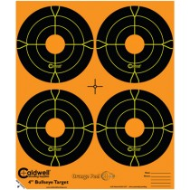 Caldwell Orange Peel Cible 10cm Autocollante Bullseye x5