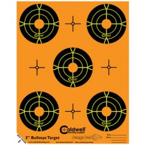 Caldwell Orange Peel Cible 5cm Autocollante Bullseye x10