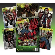 Caldwell ZTR cibles Silhouettes Zombie Combo Pack 10 Pk