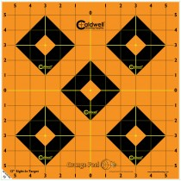 Caldwell Orange Peel Sight-In Cible 30cm Autocollante x100