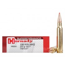 Hornady Munitions 338 Win Mag 200gr Superformance SST x20