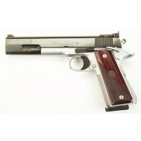 Pachmayr Poignée American Custom Colt 1911 Bois De Rose Laminé Semi Quadrillé