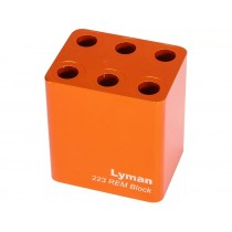 Lyman Ammo Checker Jauge de Munitions 6 Trous .223 Rem Orange